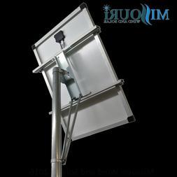 "Single XL Solar Panel Top of Pole Long Mount 4' x 4' x 48"" f"