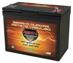 SLR60 SOLAR BATTERY 800 Watt Hour 12V 60Ah AGM Sealed High P