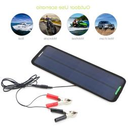 Portable Solar Panel 12V 5W Battery Charger System Maintaine
