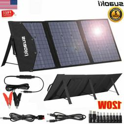 120W Portable Folding Solar Panel System kit for Home Camper