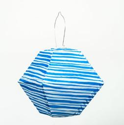 Allsop Home and Garden Soji Blue Stripe Rhombus,  LED Outdoo