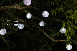 Allsop Home and Garden Soji Solar String Lights, Globe Style