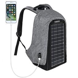 ECEEN Solar Backpack Anti-theft Travel Laptop Backpacks Buil