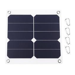 Fdit Solar Battery Charger, 13W 5V Monocrystalline Solar Pan