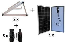 WindyNation 200 Watt  12V Solar Panel Battery Charger + Adju