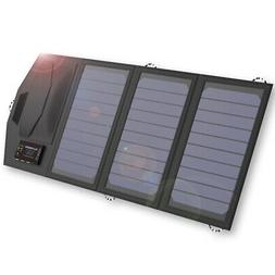 Allpowers Solar Battery Charger Portable 15W Dual Usb Type-C