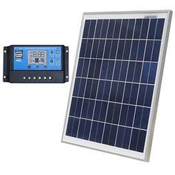 ECO-WORTHY 12 Volt 20W Solar Charging Kit: 1pc 20 Watt Polyc