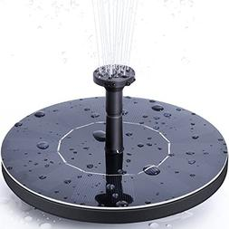 Ankway Solar Bird Bath Fountain Pump, 1.4W Free Standing Sol