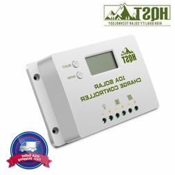 HQST 10A Solar Charge Controller 12V/24V PWM Positive Ground