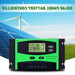 Solar Charge Controller 12V/24V Solar Panel Battery Intellig