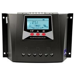 ZHCSolar Solar Charge Controller 50A 12V 24V 36V 48V Auto 10