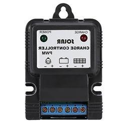 Asixx Solar Charge Controller, PWM 6V/12V 3A Portable Solar