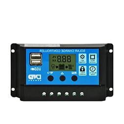 Bokeley Solar Charge Controller, 10 A Solar Panel Battery In