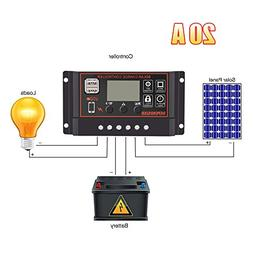 Solar Charge Controller Regulator, Intelligent LCD Screen Th