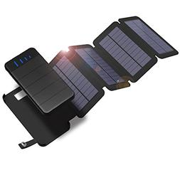 X-DRAGON Solar Charger with Foldable Solar Panel Power Bank
