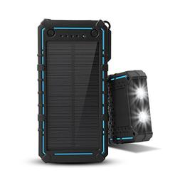 Solar Charger 13500mAh,WBPINE Solar Powered Charger External
