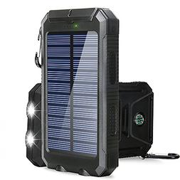 Solar Charger, BESWILL 10000MAH Solar Phone Charger Waterpro