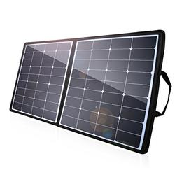 POWERADD 100W Solar Charger, 18V 12V SUNPOWER Solar Panel Wa