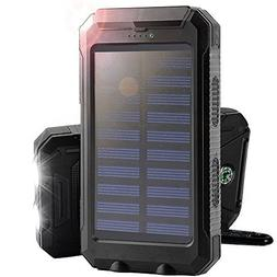 Solar Charger,Portable  8000mAh Dual USB Solar Battery Charg
