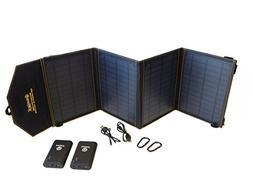 SunJack 20W Solar Charger + 2x10000mAh QC 3.0 Power Banks -