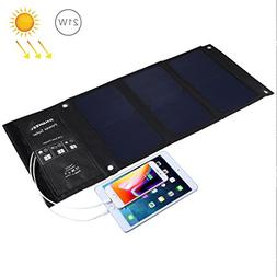 HAWEEL Solar Charger 21W Dual Solar Panel with USB Port Wate