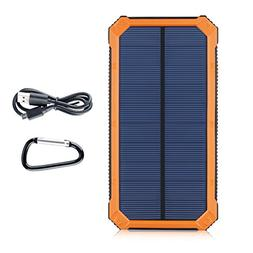 Suaoki 10000mAh Solar Charger External Backup Power Bank Pac