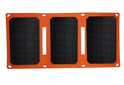 Solar Charger Foldable Outdoor 18W ETFE Solar Panel with Dua