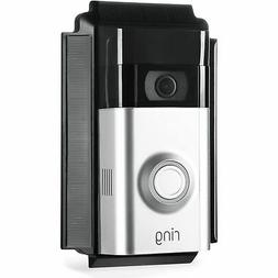 Wasserstein - Solar Charger for Ring Video Doorbell 2 - Blac