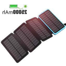 F.DORLA Solar Charger 25000mAh, Outdoor Portable Phone Charg