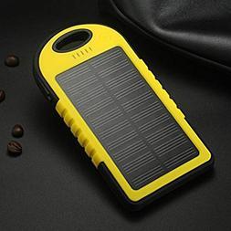 Solar Charger 8000MAh Mobile Phone Power Bank External Backu