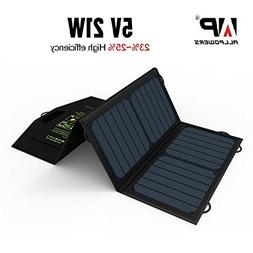 ALLPOWERS 21W Solar Panel Charger with Dual USB Port Foldabl
