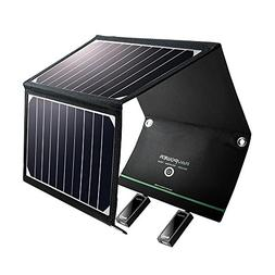 Solar Charger RAVPower 15W Solar Panel with Dual USB Port Wa