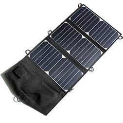 Renepv Solar Charger 21W Solar Panel with Double USB Ports W