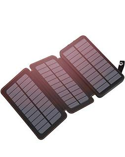 Hiluckey Solar Charger 24000mAh Outdoor Portable Charger Ext