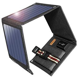 Suaoki 14W Solar Charger Portable Foldable with High Efficie