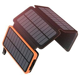 25000mAh Solar Charger ADDTOP Portable Solar Power Bank with