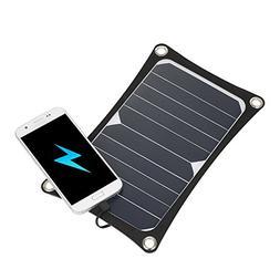 Lixada Solar Charger 6W Portable Ultra Thin Monocrystalline
