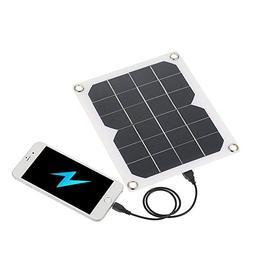 Lixada Solar Charger 5W Portable Ultra Thin Monocrystalline