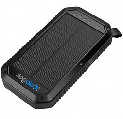 Solar Charger- Power Bank 8000mAh, GIDgat, 3 USB Charging Po