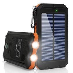 Ayyie Solar Charger,10000mAh Solar Power Bank Portable Exter