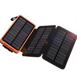Solar Charger 24000mAh,WBPINE Solar Power Bank Waterproof Du