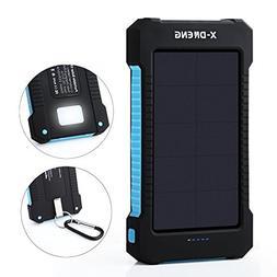 Solar Chargers,X-DNENG 10000mAh Portable Solar Power Bank Hi