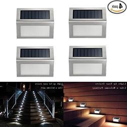 Solar Deck Lights, iThird 3 LED Solar Powered Step Lights St