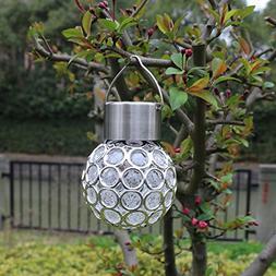 DSstyles Solar Energy Powered Light Peacock Eye LED Hanging