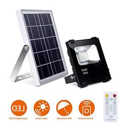 Solar Flood Lights with Remote Outdoor Led Solar Light 10W 5