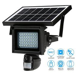 KKmoon Solar Floodlight Camera & light with 40 IR LEDS 720P