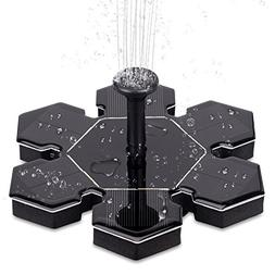 LUCKYDIY Solar Fountain, Solar Powered Bird Bath Fountain Pu