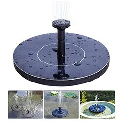 Jiistar Solar Fountain, 1.4W Solar Powered Bird Bath Fountai