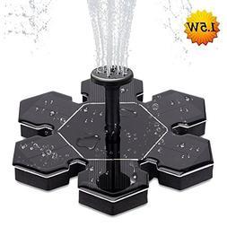 AMYER Solar fountain,solar fountain pump for bird bath, 1.5W