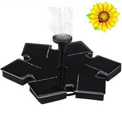 Iusun Solar Fountain, Solar Power Water Panel Fountain Pump,